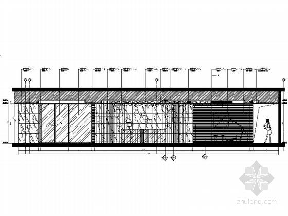 [福建]豪华游艇会所SPA装修设计施工图走廊立面图