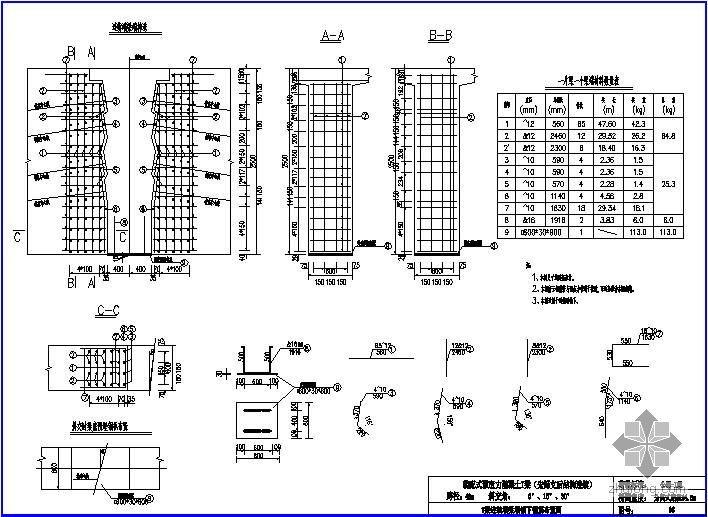 装配式预应力混凝土T梁桥(先简支后结构连续)上部构造通用图[跨径:40m,桥面宽度:分离式路基34.