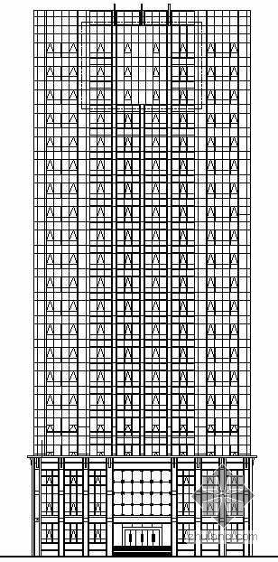[洛阳]某电力大楼建筑幕墙施工图