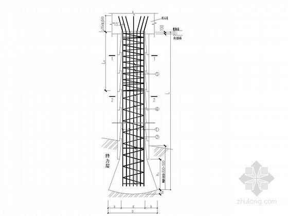 [湖南]6层欧式风格住宅楼墩身详图