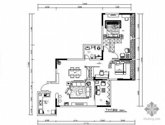 欧式风格二居室装修图