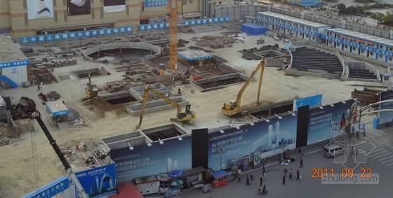 [江苏]国际广场超深基坑逆作法施工技术介绍(中建)