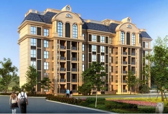 [湖北]2800平六层框架柱剪力墙结构住宅楼建筑结构施工图