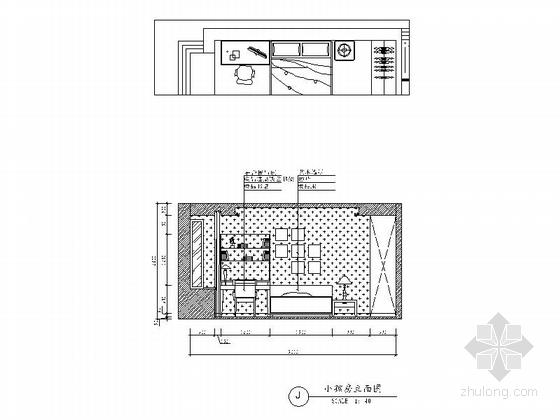 [广州]花园住宅简欧三居室样板房装修图(含效果)小孩房立面图