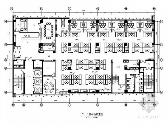 [湖北]综合型集团公司现代办公楼设计施工图(含效果)