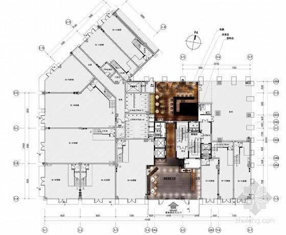 [湖北]高端奢华现代风格酒店大堂设计方案