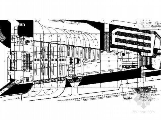 [福建]四层现代风格地铁站配套用房建筑施工图(2015年图纸知名设计院)-四层现代风格地铁站配套用房首层平面图