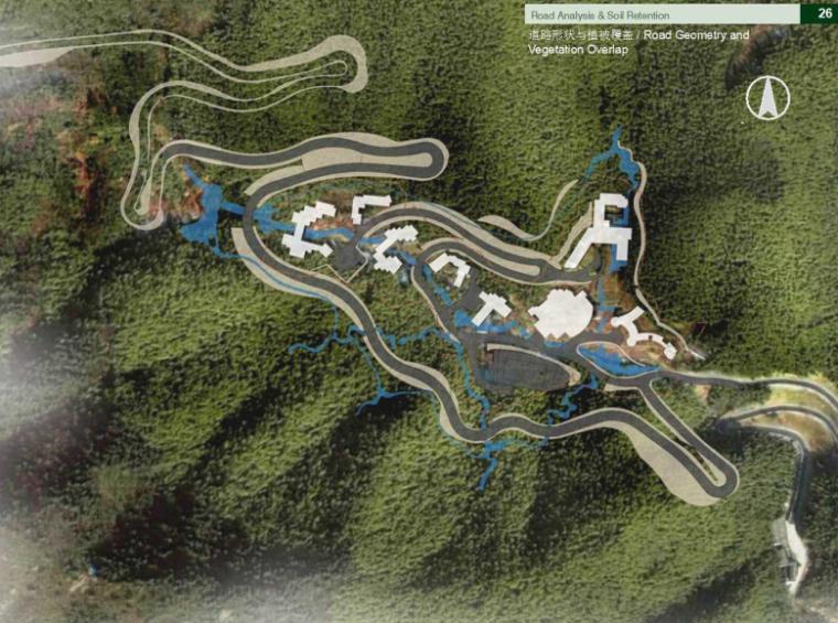 [浙江]知名国际旅游度假村景观方案文本-道路形状与植被覆盖