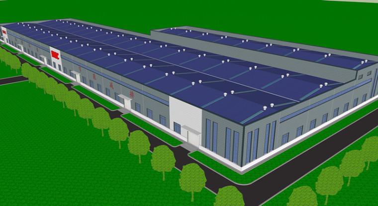 [河南]20000平门刚结构电气厂房车间建筑结构全套图