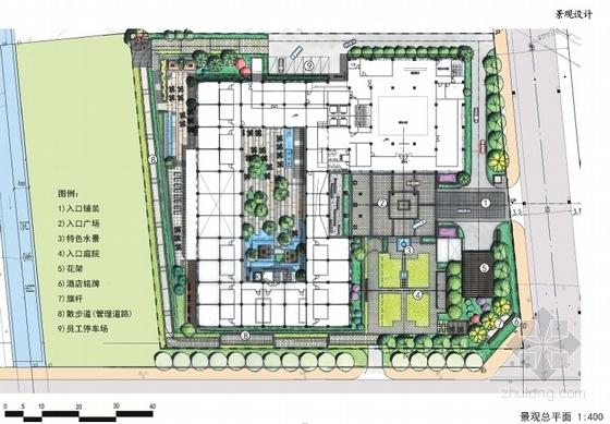 [四川]古典风格绿色度假酒店建筑设计方案文本-古典风格绿色度假酒店总平面图