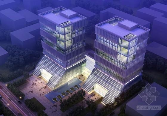 [上海]16层医药临床研究办公塔楼建筑设计方案文本