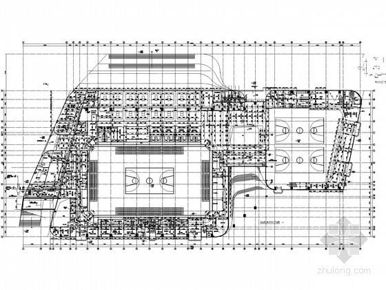 屋面消防水箱图纸资料下载-[广东]中学建筑给排水全套图纸(含体育馆 气体消防水炮系统)