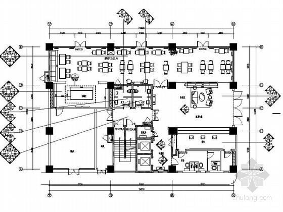 [苏州]商业中心现代商务酒店大堂及餐厅装修施工图(含效果)