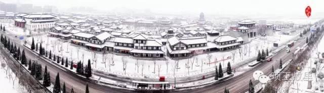 最美不过初雪,宿迁的项王故里就变成了西楚古城_1
