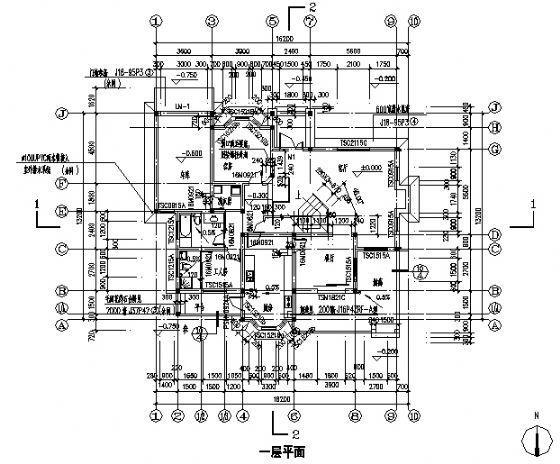 二层别墅建筑施工图-3