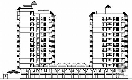 某小区B栋11层住宅楼建筑方案图