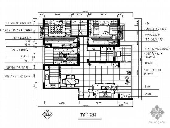 时尚三居室设计图(含实景照片)