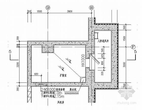 人防进排风井详图(F10建筑施工图)