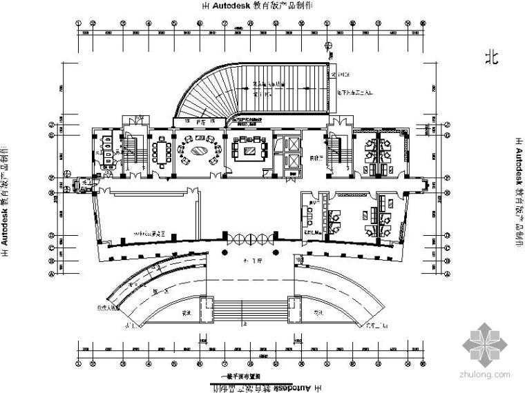 [安徽]某指挥中心办公大楼室内装修图