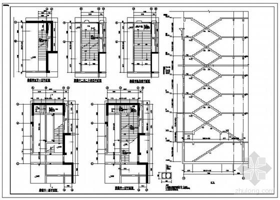 某高层剪力墙住宅楼梯节点构造详图
