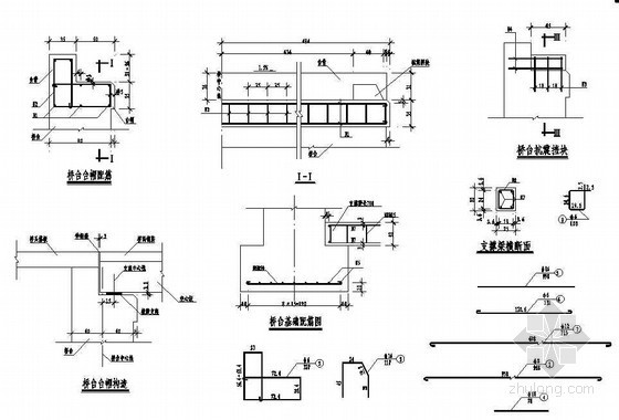 2×8m空心板桥桥台构造配筋节点详图设计