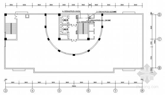 某十六层办公楼综合布线平面图