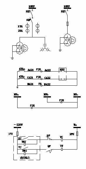 电容器柜控制保护及计量原理图