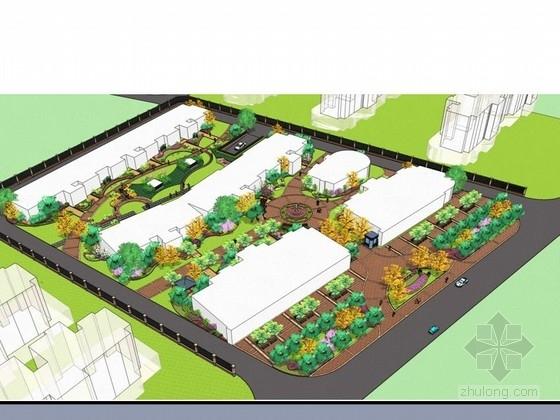 居住区组团绿地景观设计效果图