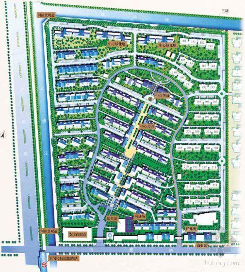 大型居住区景观平面设计方案