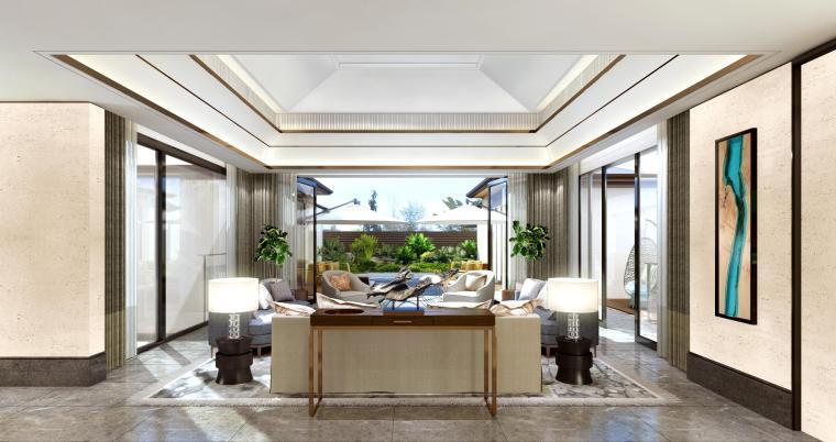 [梁志天]三亚海棠湾海棠之星住宅项目B型别墅室内外深化设计方案(JPG+CAD)