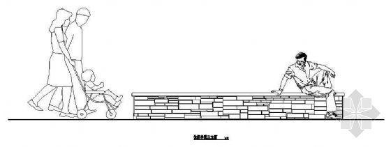 休闲坐凳施工图