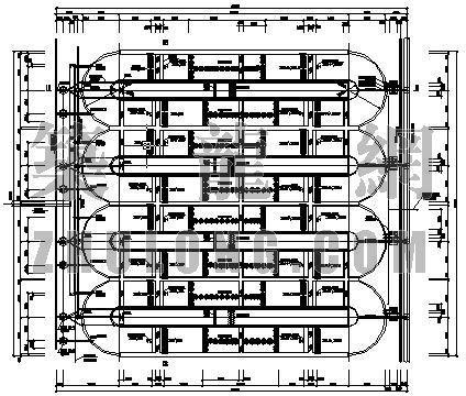 aao氧化沟平面布置图资料下载-某十万吨氧化沟平面图