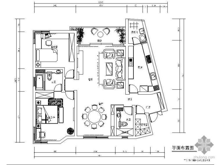 现代欧式二室二厅装修图