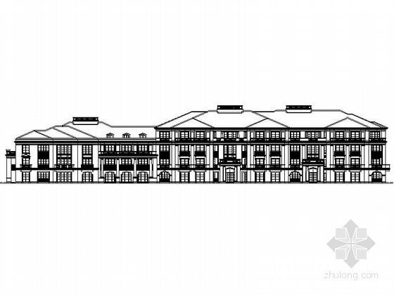 [杭州]西湖区某四层法式奢华花园洋房建筑施工图