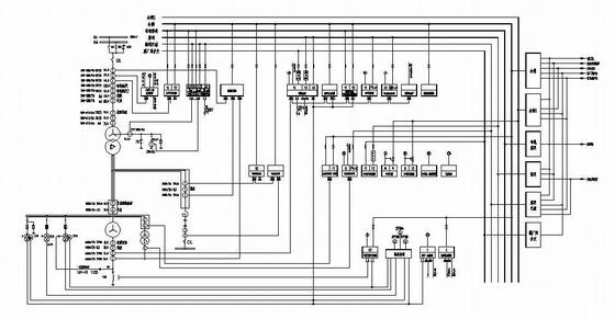 2.5万电厂电气主接线图纸