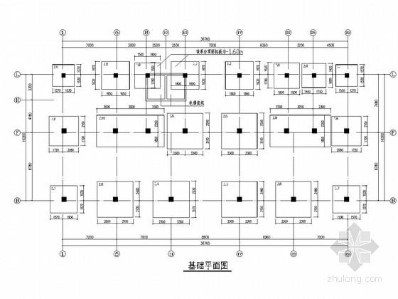 [湖南]五层框架结构卫生院住院大楼结构施工图(含各层荷载计算图)