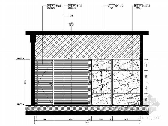 [福建]豪华游艇会所SPA装修设计施工图卫生间立面图