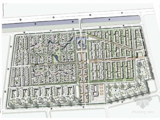 [天津]新中式简约居住区景观规划设计方案