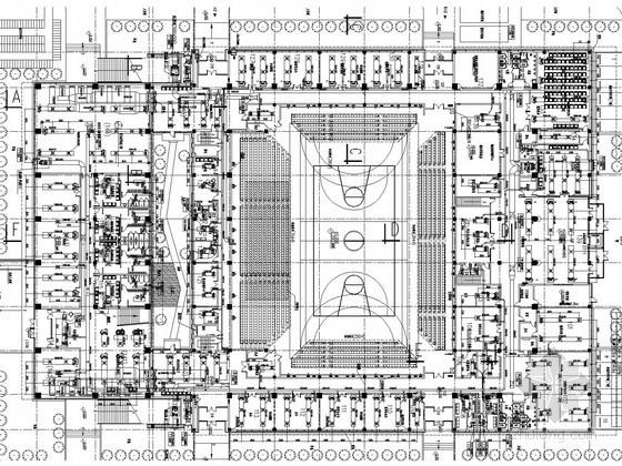 [天津]知名大学体育馆空调通风及防排烟系统设计施工图(地源热泵系统)