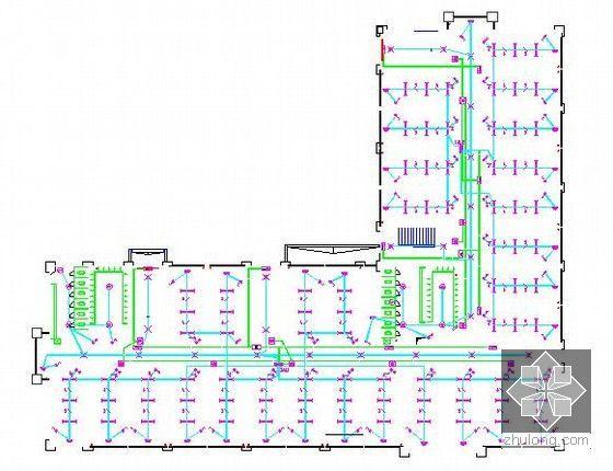[山东]中学宿舍楼建筑安装工程预算书(附图纸及软件应用)-二层照明平面图