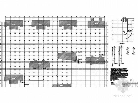 [天津]20000平地下一层框架结构车库结构施工图