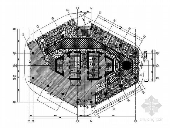 [福州]豪华国际白金五星级酒店大堂施工图