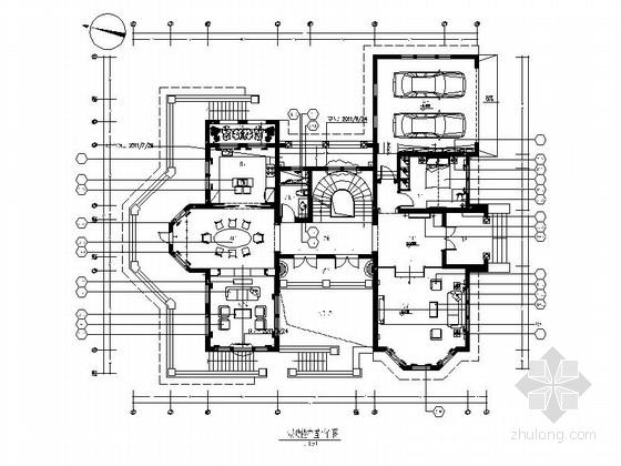 [杭州]某森林公园欧式双层别墅室内装饰竣工图(含效果)