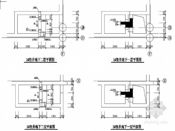 北京某科技示范园B~G楼结构图