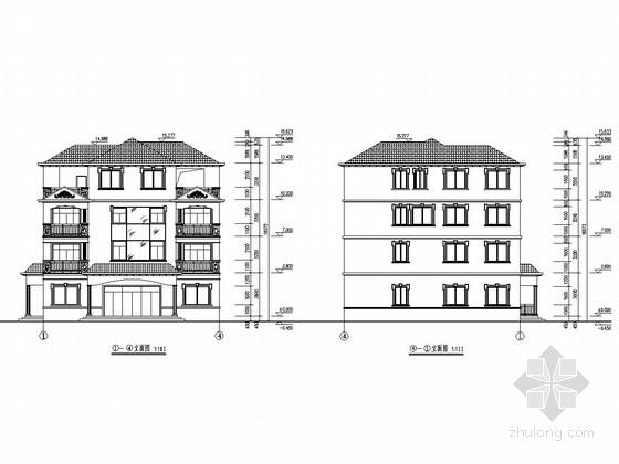[广东]四层框架结构私人住宅建筑结构全套图