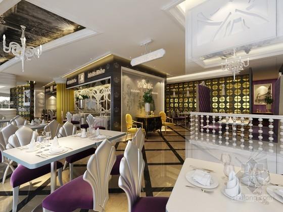 歐式餐廳3D模型下載