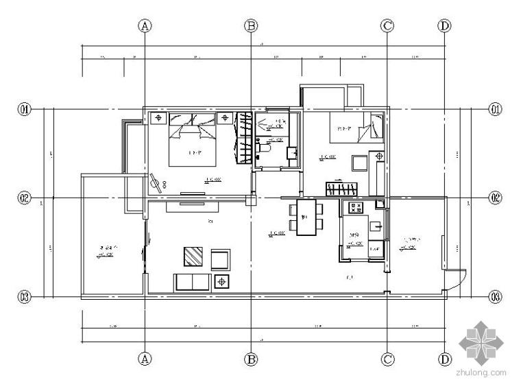 [四川]时尚二居样板房室内装修图(含效果)_1