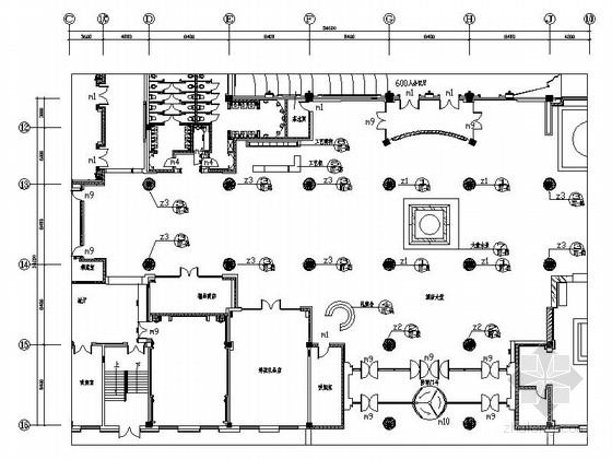 [吉林]繁华区域典雅五星级酒店大堂及候客厅装修施工图(含效果)