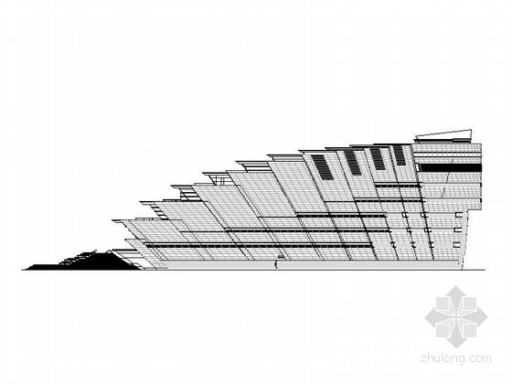 [合集]3套幕墙造型大剧院建筑施工图