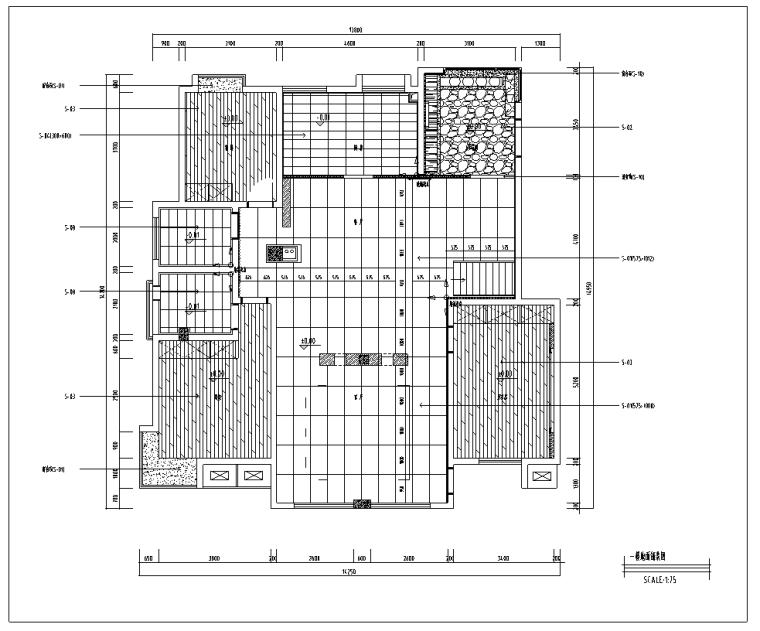 北京某别墅室内装修设计施工图及效果图